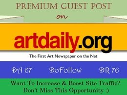 Submit Guest Post on Artdaily.com - DA 67, DR 76