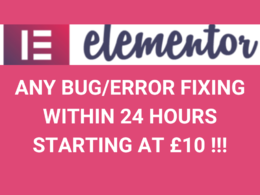 Fix any Bug or Error in Elementor Websites within 24 hours
