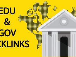 Manually created 20 edu, gov backlinks from high DA PA