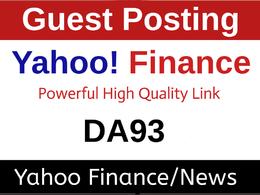 Guest Post/Press Release on Yahoo Finance, Finance.Yahoo