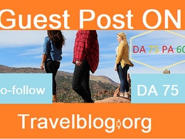 Guest Post on Travel niche Travelblog.org DA78