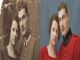 Restore, repair, colorize and fix your damage photo or image