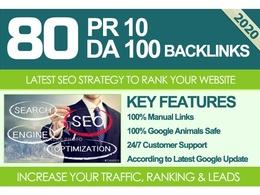 Do 80 UNIQUE PR10 SEO BackIinks on DA100 sites