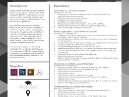 Design and edit your CV