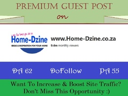Write & Poat on Home-DZine.co.za - DA 62, DR 54