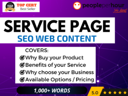 ★ Write a high quality SERVICE PAGE for your site - SEO Content★
