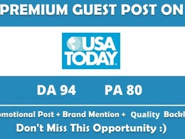 Publish Guest Post/Press Release on USA Today, USAToday DA 94