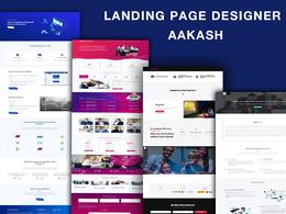 Design landing page, wordpress landing page with elementor