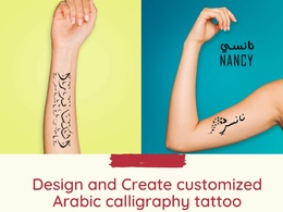 Design a customized Arabic Calligraphy Tattoo