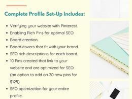 Set up an optimized Pinterest business account