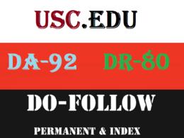 Publish Edu Guest Posts on USC - Usc.Edu DA-92  DR 80