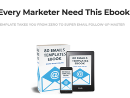 """Give you High Converting 80 email Template """"Make Money On""""line"""