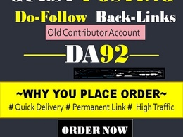 Write and post general blog post with dofollow link