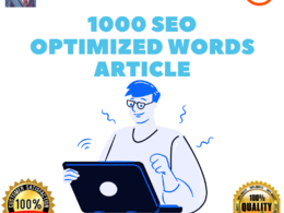 Write 1000 SEO optimized article with keywords research