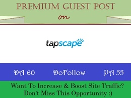 Write & Publish Guest Post on Tapscape.com - DR 65