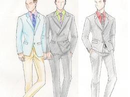 Sketch a fashion drawing or design cloths