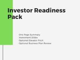 Create an investor ready pack