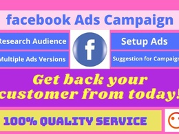 Setup, optimize and manage facebook ads for your business