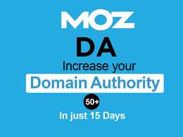 I will increase DA 50+ in just 15 days