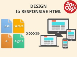 DESIGN to RESPONSIVE HTML+CSS+JS