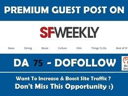 Google News Guest post on Sfweekly com news website – DA 75