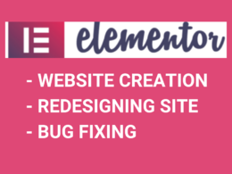Create Website using Elementor and can fix Website Bugs