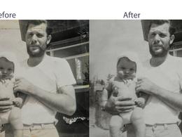 Restore digitized vintage photographs