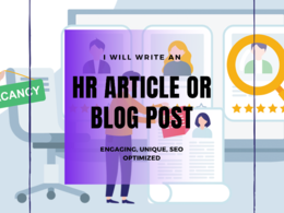 Write an HR-related article or blog post for you