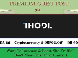 Write & Publish A Crypto Guest Post on Ihodl.com - DA 66, DR 60