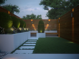 Design architectural landscape outdoor backyard garden patio 3d