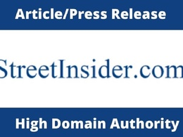 Publish Article/Press Release on Street Insider DA 84