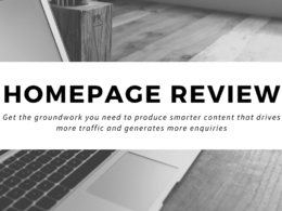 Review your Homepage content for SEO