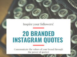 Instagram: create 20 branded quote images