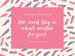 Write an article or blog post for you.