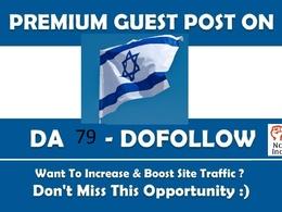 Israel Top Google News Guest Post Site DA 79 Do follow