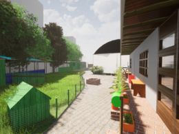Do an architecture 3d model and render