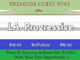 Add DoFollow Guest Post on LaProgressive.com - DR 60