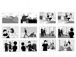 Make storyboard or comics strip