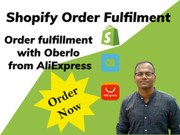Be your VA and fulfil your shopify orders using oberlo