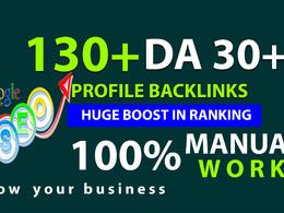 130+ Do-Follow High PR or DA 30+ Highly Authorised Backlinks