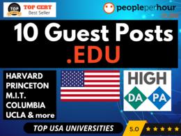 ★Write & Publish 10 Guest Posts on TOP USA UNIVERSITY EDU sites★