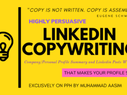 Write compelling linkedin profile bio summary 250 words