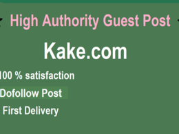 Do Dofollow USA  Guest post on Kake,Kake.com with First Delivery