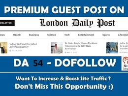 Guest Blog Post Londondailypost DA 54 Links Londondailypost.com