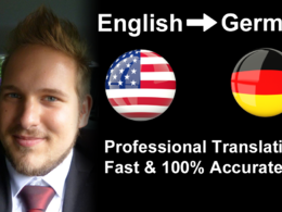 Translate English to German in 1-Day