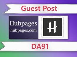 Guest post on Hubpages - hubpages.com - DA91