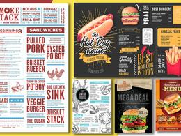 Create food or restaurant menu design or flyer professionally