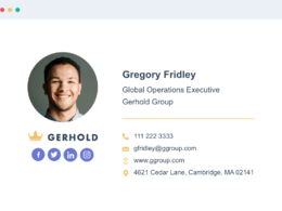 Design clickable HTML email signature with social media icons