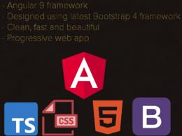 Make a progressive web app, pwa, or website using angular