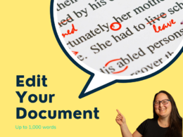 Professionally edit or proofread 1,000 words of your content